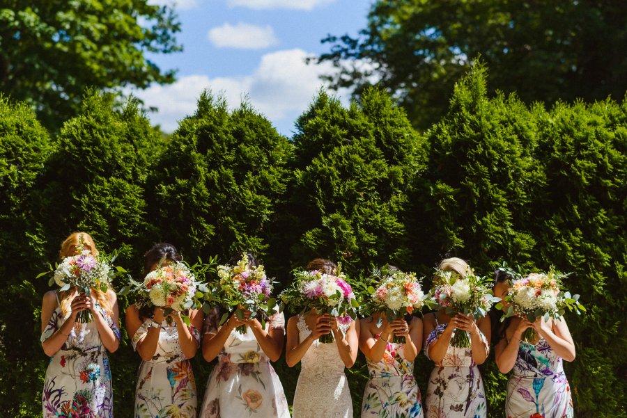 bridal party creative photograph