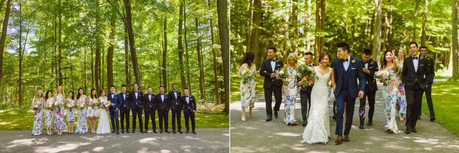 Pheasent Run Golf Course Wedding party photographs