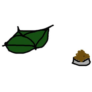 cushion and food
