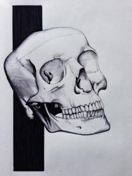 Skull sketchbook piece