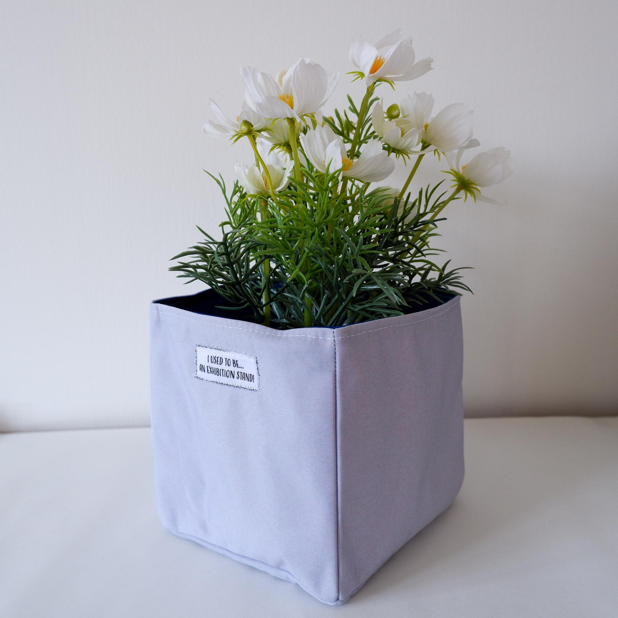 Fabric Storage Box… Dark Grey & Cream 1