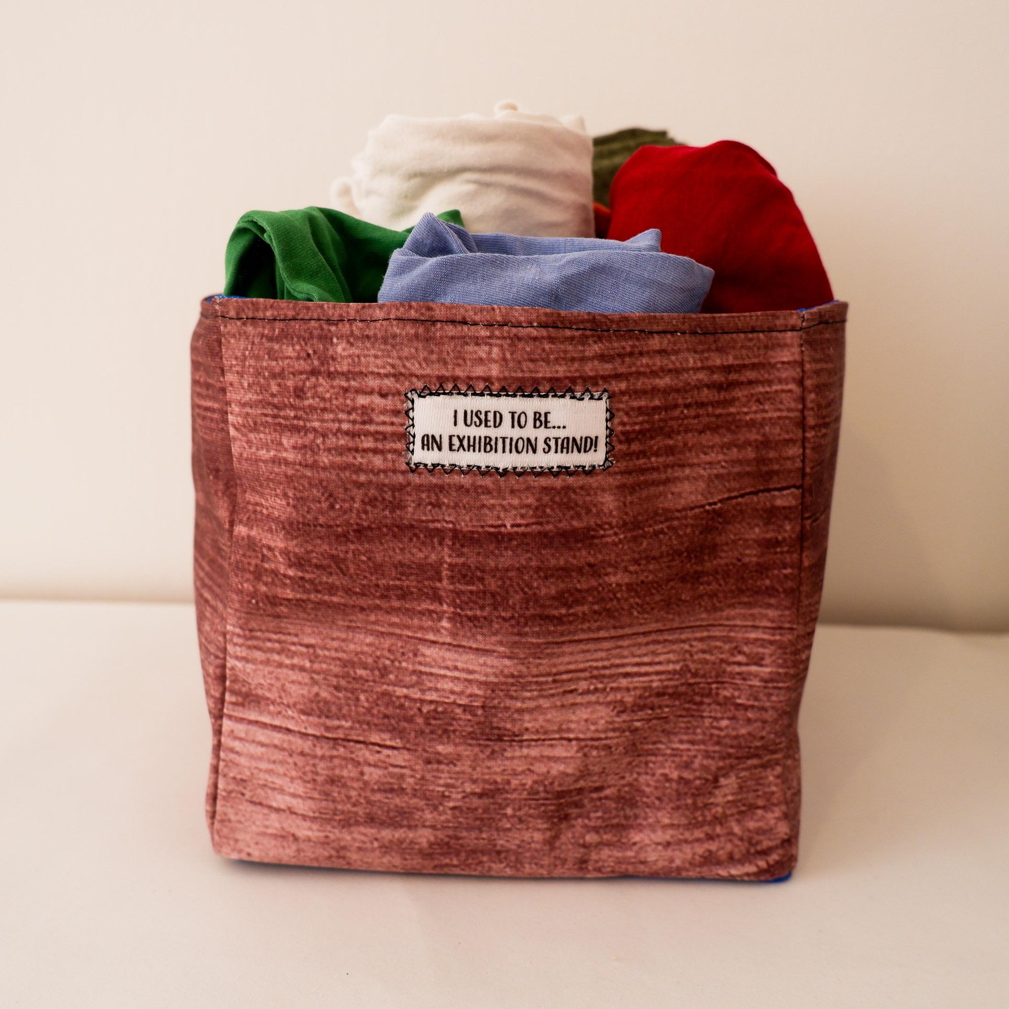 Rectangular Fabric Storage Box… Wood