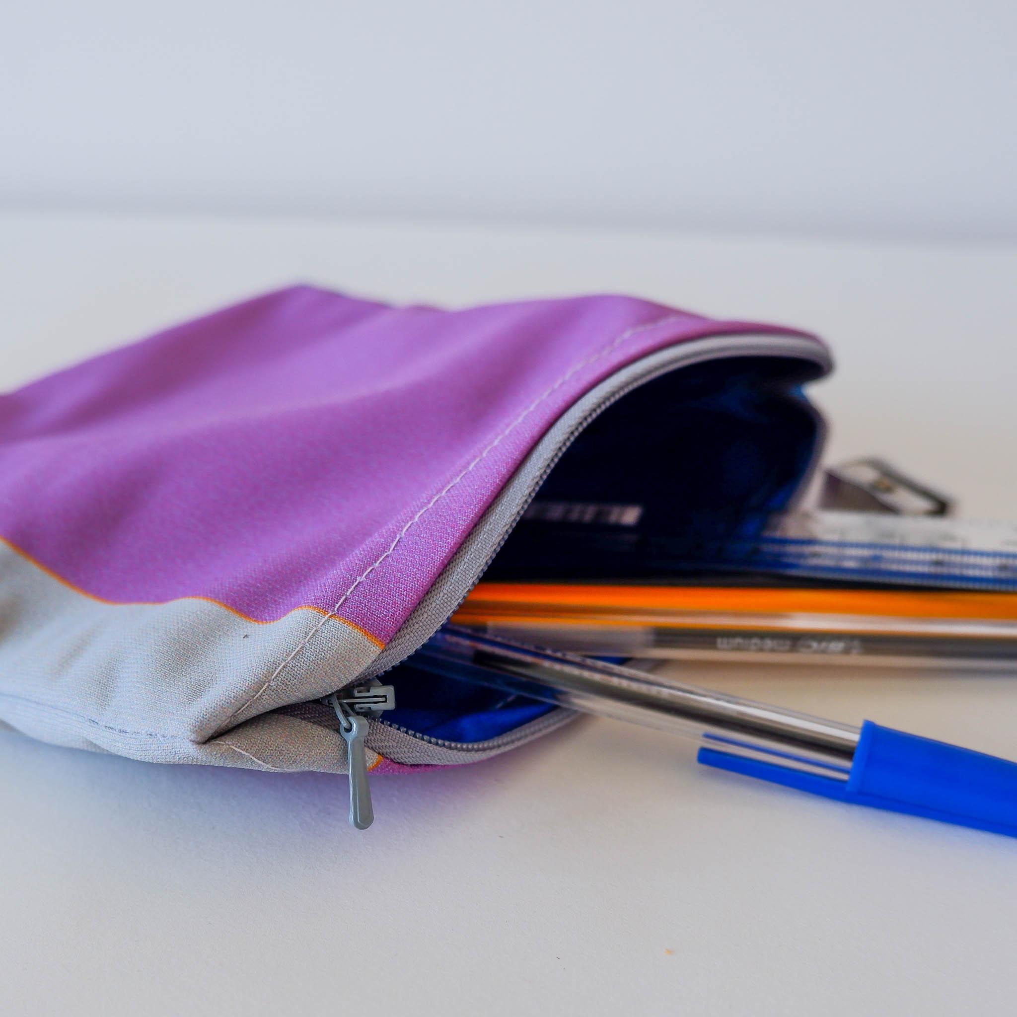 Pencil Case… Purple, Grey & Blue
