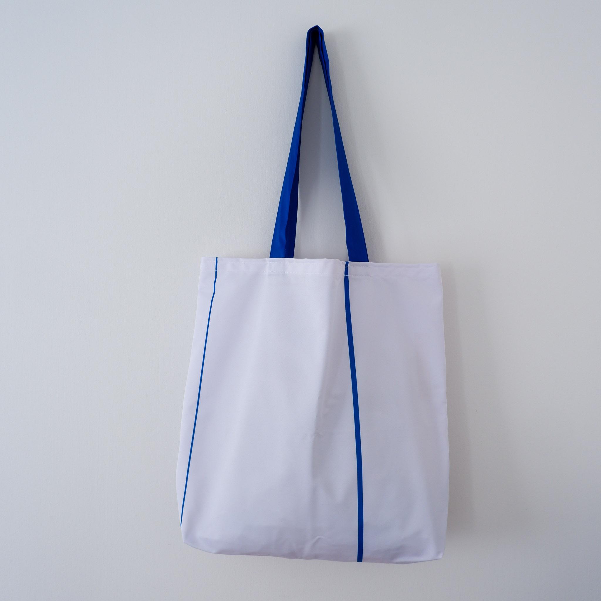 Tote Bag… White & Blue Stripe