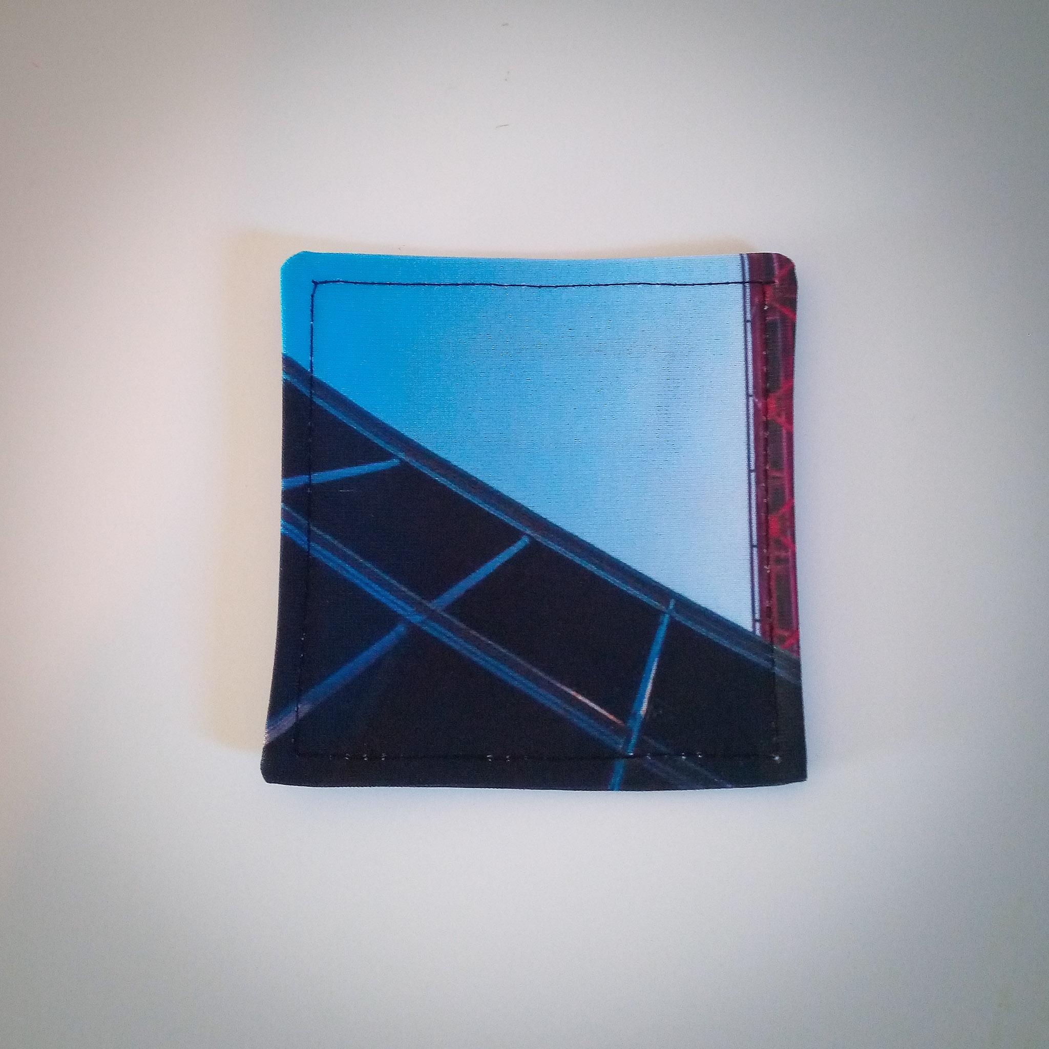 Handmade Fabric Reversible Coaster, Sky/Blue