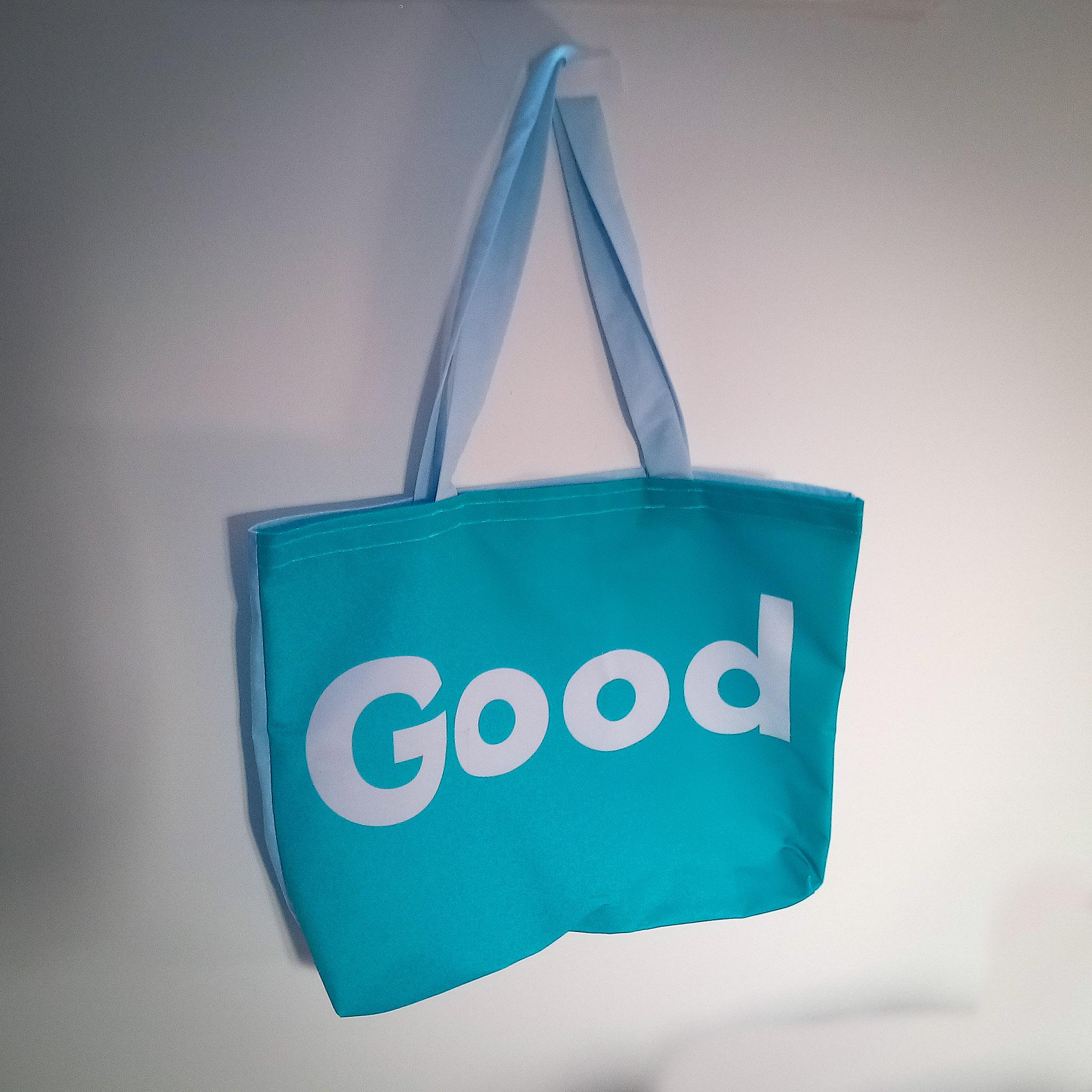 "Handmade Fabric Tote Bag, ""Good"""