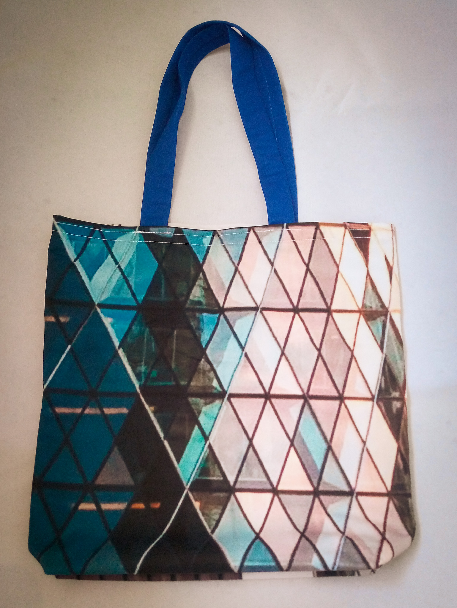 Handmade Fabric Tote Bag, Small Gherkin