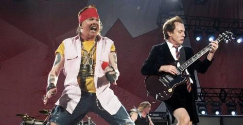アクセル・ローズとアンガス・ヤング,AC/DC