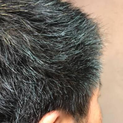染め上がり。 でも48時間経過したらもっと藍色になります。