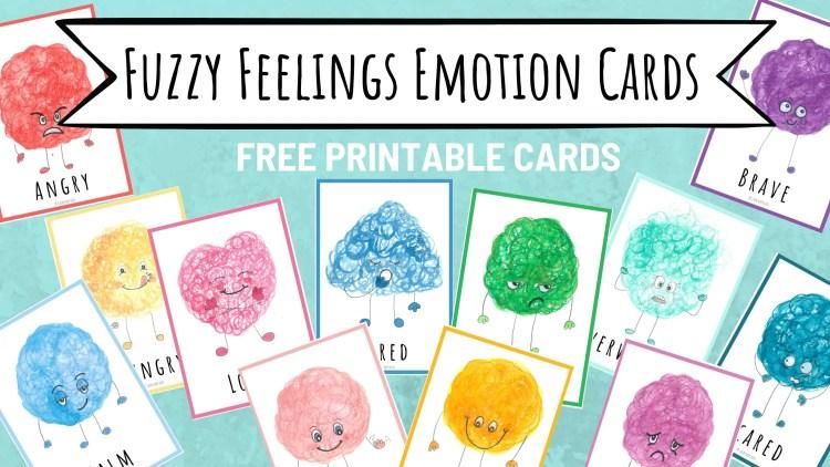 Fuzzy Feelings Emotion Cards  - free Printable Feelings cards
