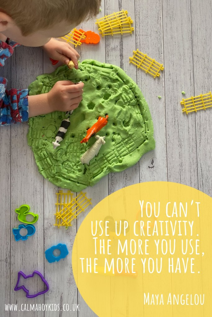 Easy Homemade Playdough Recipe - You can't use up creativity. The more you use, the more you have - Quote