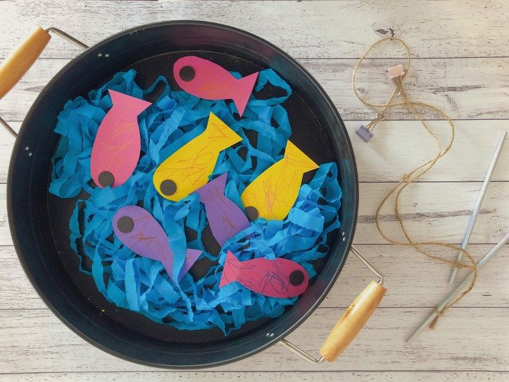 Easy to Make Magnetic Fishing Craft and Game for Kids