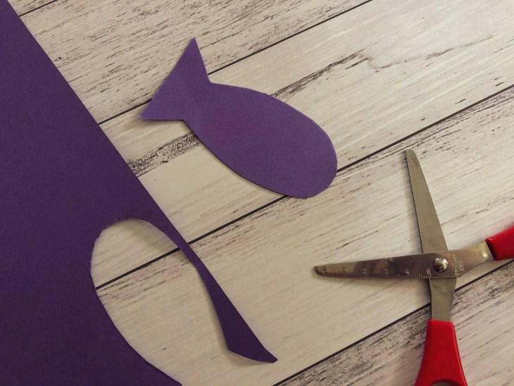 Easy to Make Magnetic Fishing Craft and Game for Kids - Cut out some paper fish
