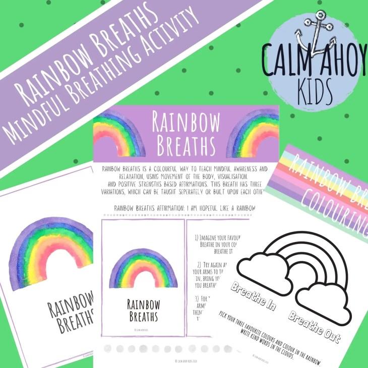 Rainbow Breaths - Children's Breathing Activity