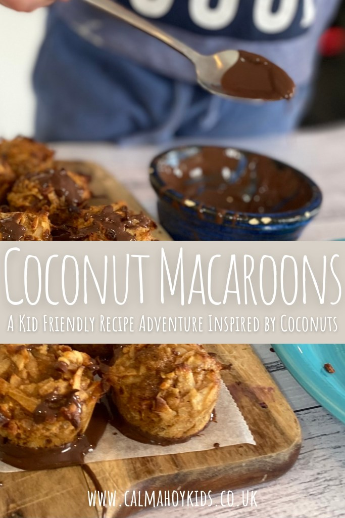 Cooking with Kids - easy, fresh coconut macaroons.