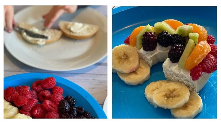 Fun Fruits Rainbow bagels Recipe