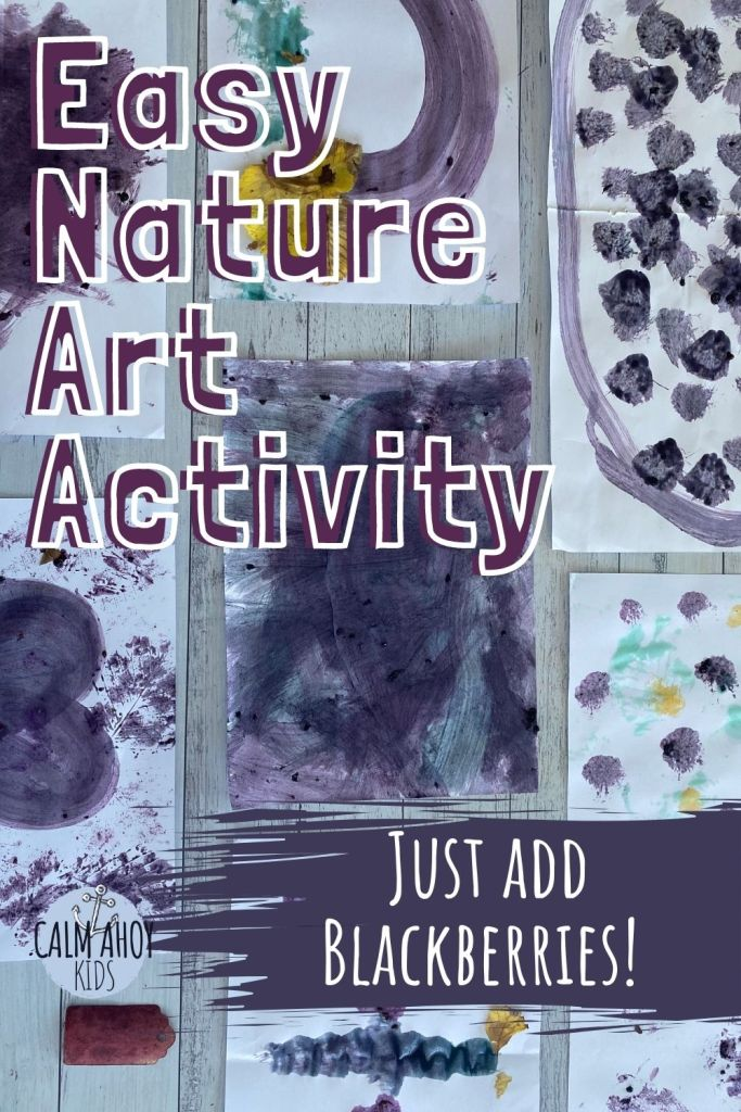 Easy Nature Art Activity with Berries