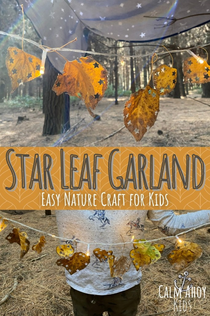 Star Leaf Garland Autumn / Fall Craft Activity
