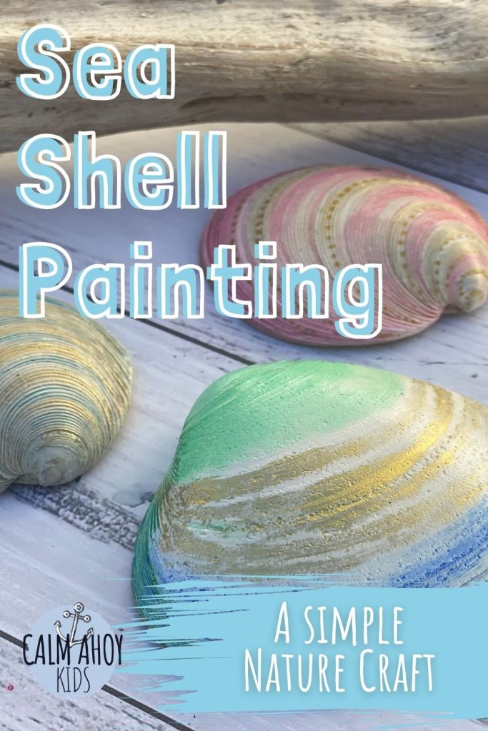 sea shell painting for kids nature craft