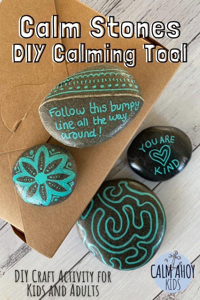 DIY calming strategy stones for home and the classroom