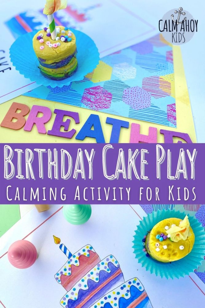 Birthday Cake Play and Craft - Calming Activity for Kids