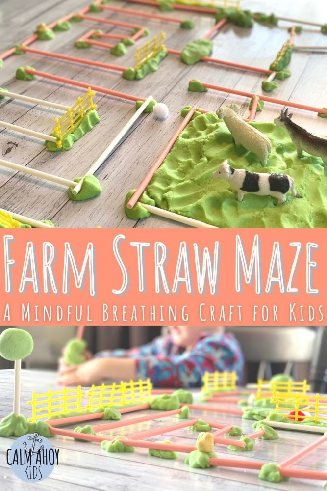 straw maze craft for kids