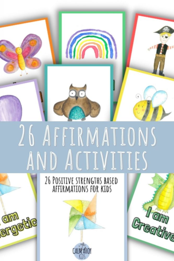strengths based affirmations and activities for kids.