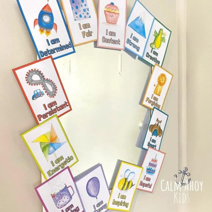 affirmation mirror craft for kids