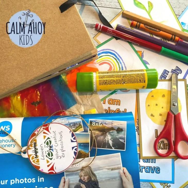 affirmation scrapbook craft for kids
