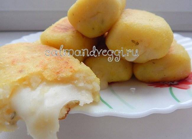 Картофельные биточки с сыром. Пошаговый рецепт с фото