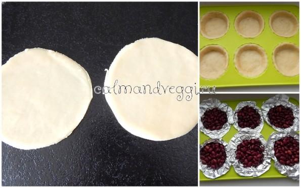 Песочные корзиночки с творожным кремом и консервированными персиками, пошаговый рецепт с фото