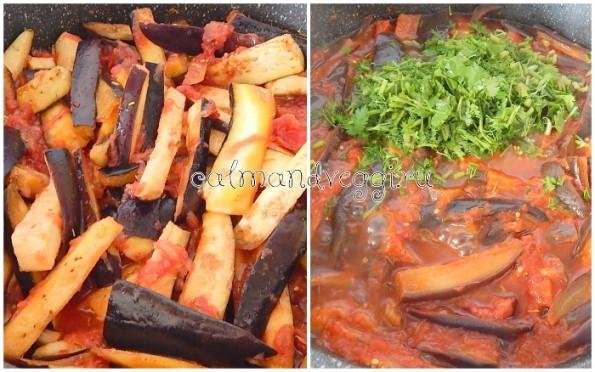 Подливка из баклажанов и томатовк спагетти, рису, гречке