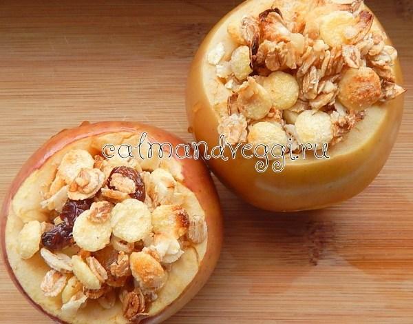 запеченные яблоки с начинкой из мюсли рецепт с фото