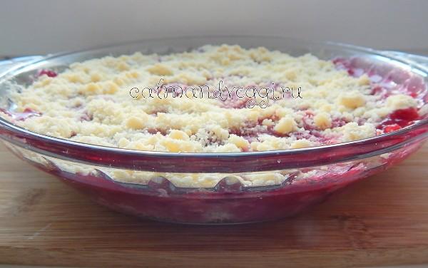 вишневый крамбл рецепт с фото