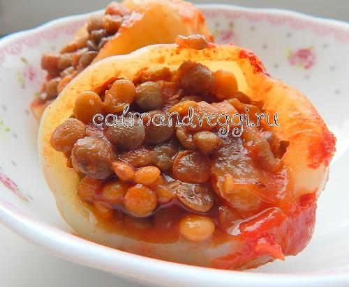 перцы фаршированные чечевицей рецепт с фото