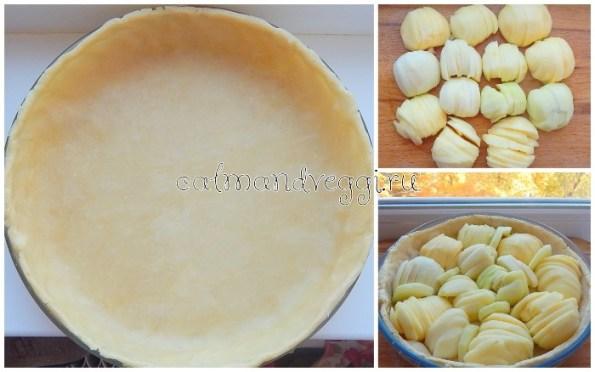 Цветаевский яблочный пирог со сметанной заливкой рецепт с фото