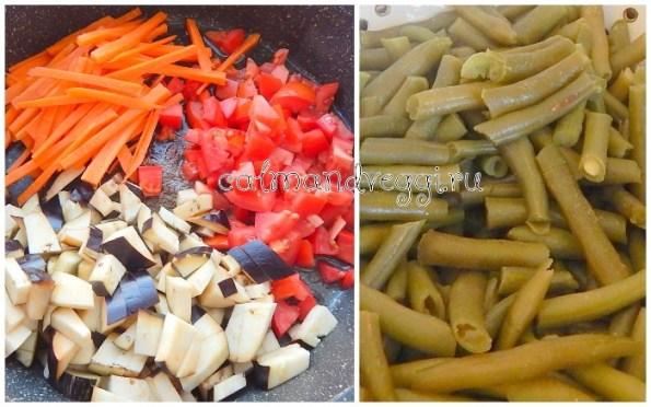 Рагу из стручковой фасоли и овощей рецепт с фото