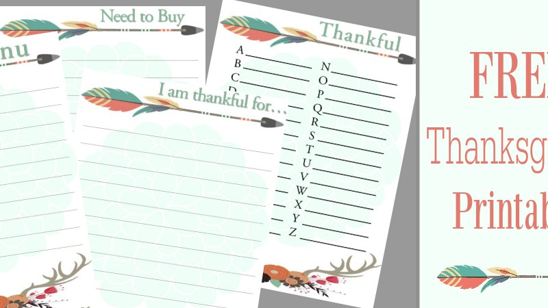 Free Thanksgiving Printables | Menu | Thankful ABC's | I am thankful for…