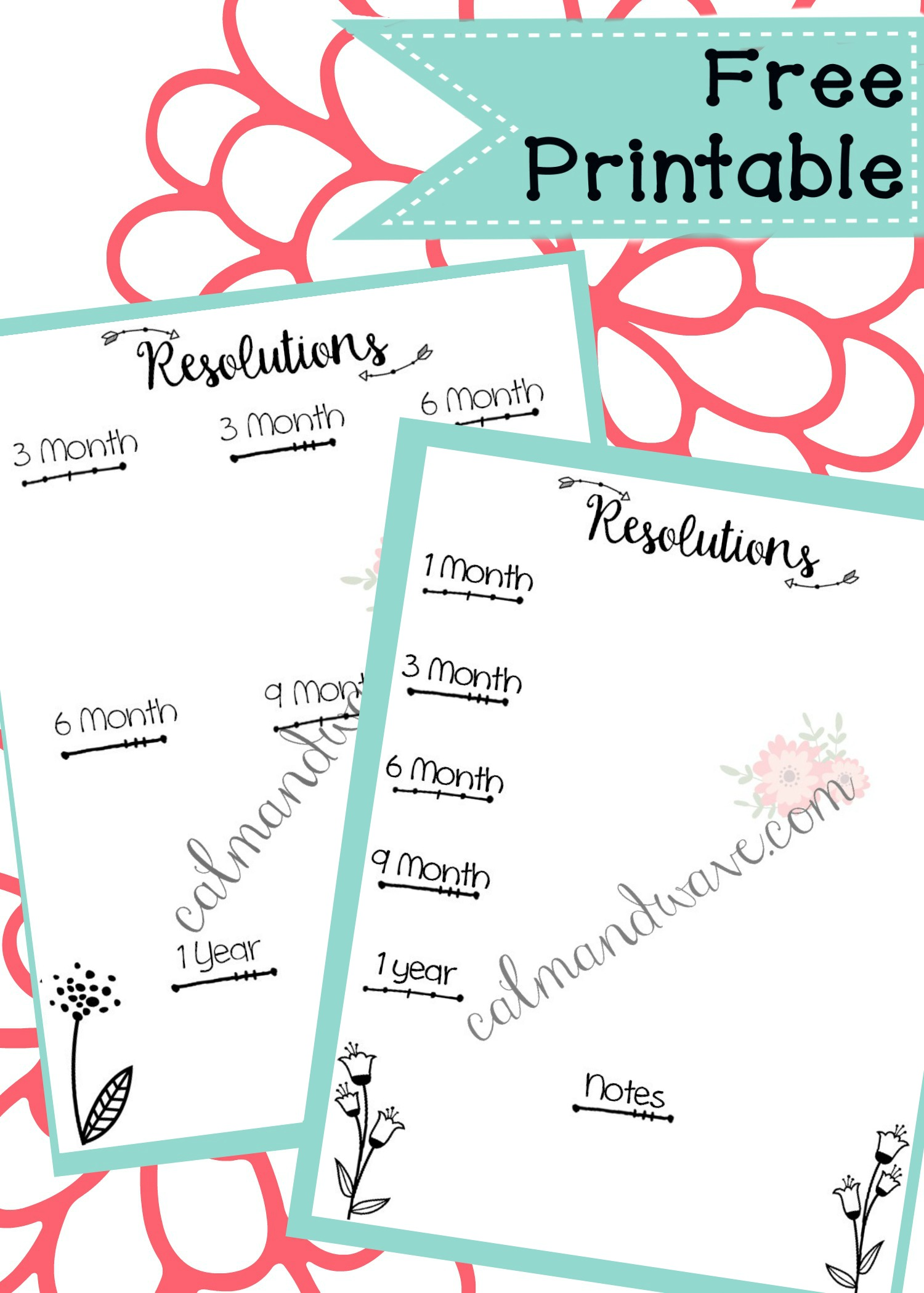 Planning New Year S Resolution Worksheet