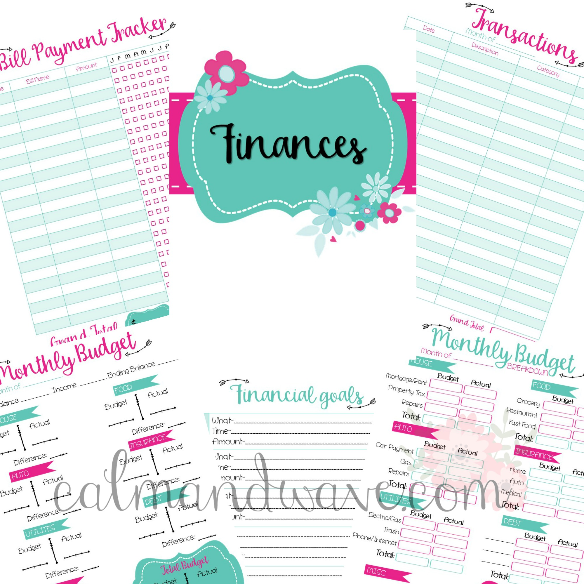 Free Finances Planner Pages