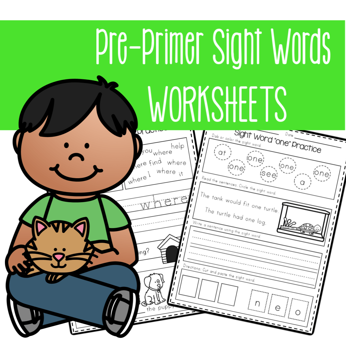 small resolution of Pre-Primer Sight Word Worksheets for Preschool