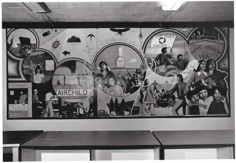 Imagen de archivo de un mural en la Universidad DQ. Foto cortesía de Tribal College Journal