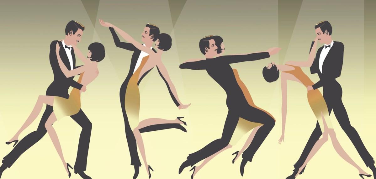 Five dancing couples