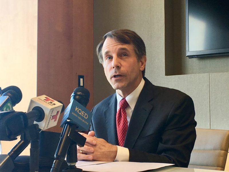 Insurance Commissioner Dave Jones, a Democrat, is a candidate for California Attorney General. Photo by Laurel Rosenhall/CALmatters