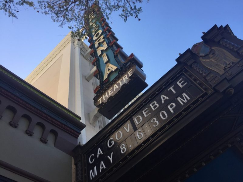 The top six candidates for governor in California Debated May 8 at the California Theatre in downtown San Jose.