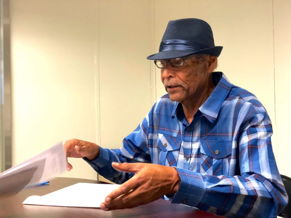 Terry Williams, 71, lives in South Central Los Angeles and says his stomach dropped when he first got an eviction notice in July. Photo by David Gorn for CALmatters