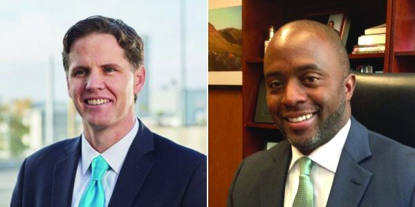 The state prison officers' union is backing Tony Thurmond, right, in his race for schools chief against Marshall Tuck, left.