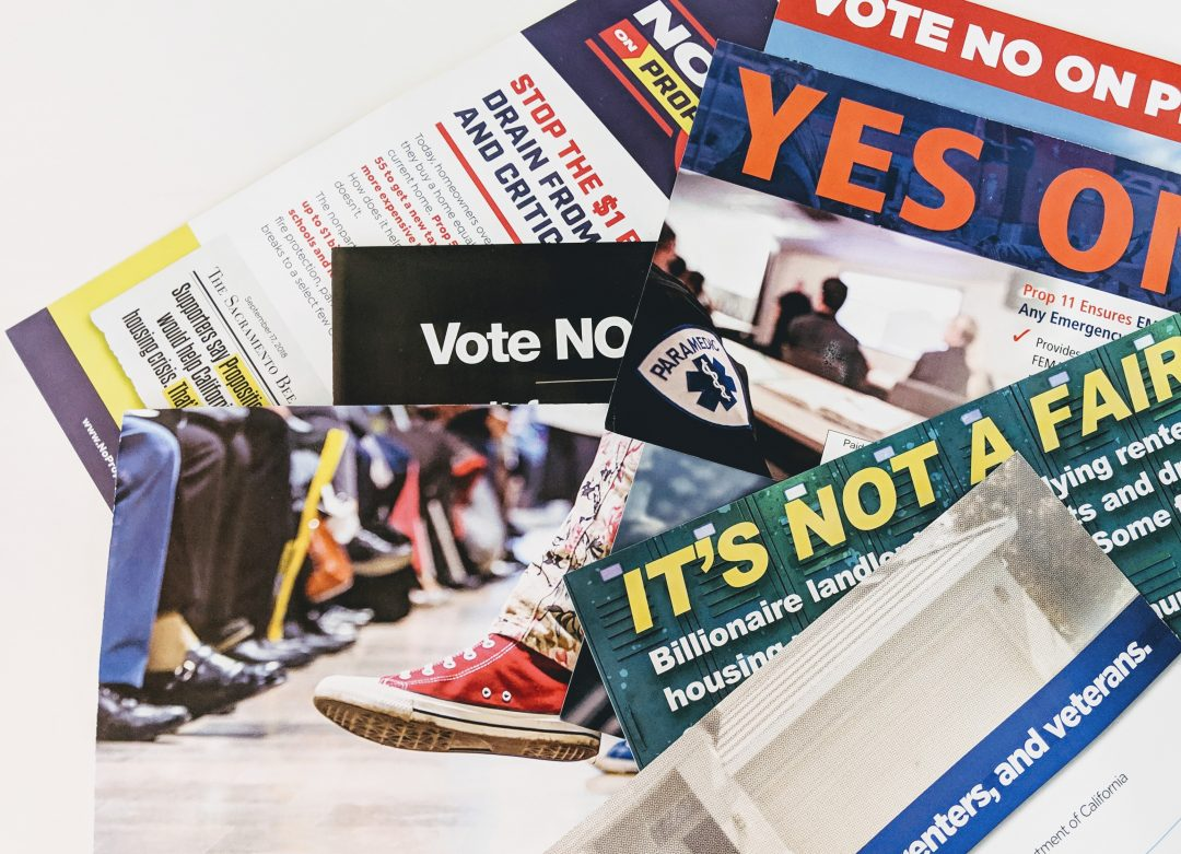 During election season mailboxes overflow with political advertisements like these, many of them bankrolled by special interests. Photo by Adriene Hill/California Dream
