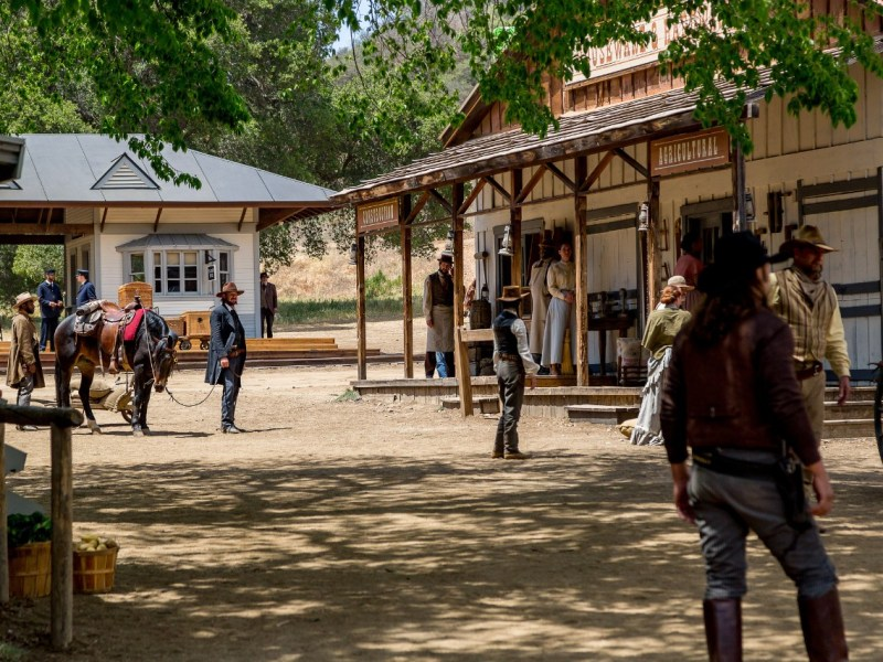 Photo of Paramount Ranch and cowboys.