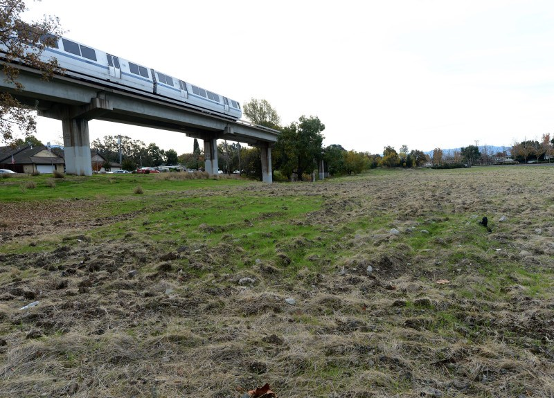 Land near public transit such as BART would be more easily developed into mid-rise apartment buildings under a proposal before California lawmakers. Photo by Dan Honda, Bay Area News Group